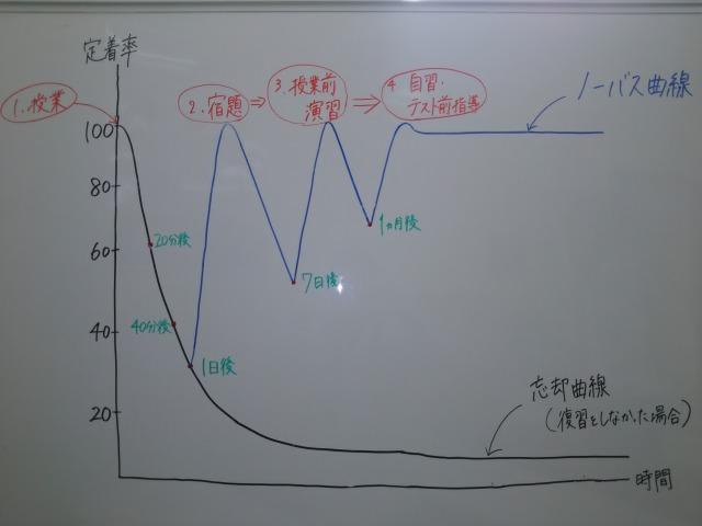 """""""忘却曲線""""と""""宿題""""の関係画像"""